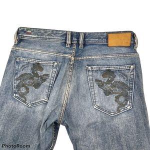 Diesel Viker Embroidered Men's Straight Leg Jeans